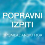Popravni izpiti za zaključne letnike SPI in NPI – 1. in 2. 6. 2020 – drugi rok